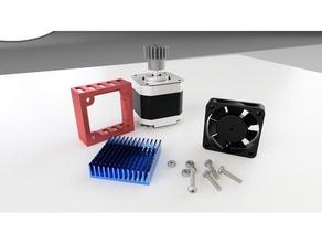 super easy fan mount 40mm heatsink stepper motor fan heatsink heatsink fan heatsink mount stepper cooler stepper motor stepper motor mount