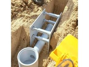 zanja apoyo 114 bruder construcción zanja zanja apoyo