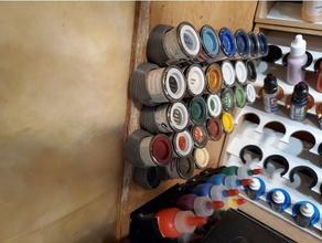 humbrol esmalte estaño pared almacenamiento esmalte pintar humbrol escala modelo