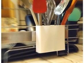 plato estante montable utensilio soporte