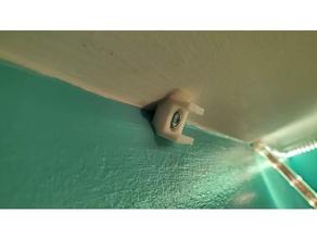 led rope light string corner clip bracket ceiling mount holder