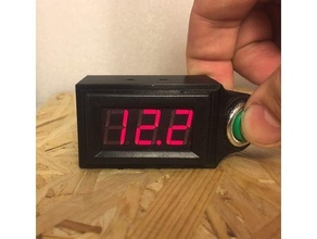 motorcycle voltmeter case button mounted steering led voltmeter voltmeter voltmeter case