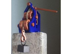 elevador leonardo elevador invento inventor leonardo leonardo vinci maqueta mecanismo juguete