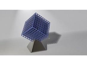 infinite cube benchmark calibration calibration test cube decoration geometric geometry hyper-cube hypercube infinite infinite cube lattice lattice cube math ornament printer calibration resin sculpture super cube tesseract