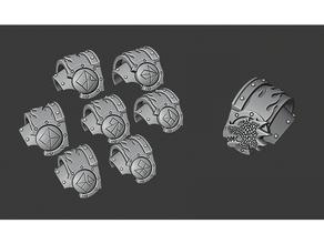 flamedragons shoulderpads space marine terminator warhammer 40k