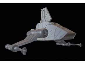 isp-6 kenner mini-rig rework darth vader galactic empire imperial shuttle isp6 kenner lamba minirig starwars star wars xwing xwingtmg xwing miniatures
