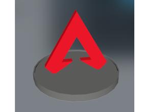 apex legends - 3d logo stand apex apex logo apex legend apex legends battle royale logo logo stand