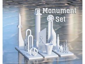 Monumento conjunto Greeble ciudad arquitectura ciudad construcción construcción juguetes geocraper Greeble Greeblecity Greebles miniatura Monumento escala terreno minúsculo pueblo juguete