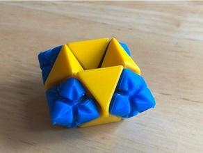 arc attacher construction pièces construction jouets lego octaèdre tétraèdre