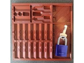 pinning tray locksport lockpicking 14 pin grooves 42 disc detainer slots big disc disc detainer large lockpicking locksport pin pinning tray