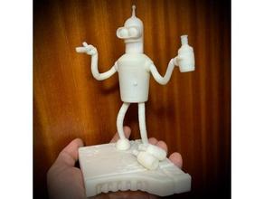 bender futurama 3d Stampa bender collezione collezione ubriaco futurama scultura giocattoli zbrush