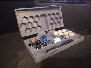 bisagras miniatura lápiz caso funda impresión sitio dd caja soporte mazmorras dragones mesa mesa juego azar mesa rpg