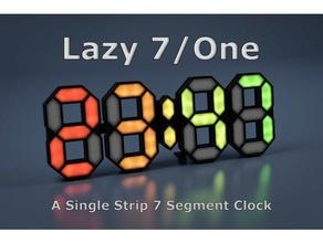 faul 7 7 Segment Arduino ds1307 ds3231 einfach esp8266 fastete LED Streifen Neopixel nodemcu RTC ws2812 ws2812b ws2813 wslab