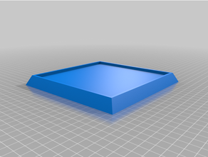 Peana cuadrada paraca maquetas cuadrado modelo base base maqueta modelo Peana