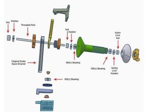 ultimate filament spool holder ender 3 5 5-plus 20mm rails creality creality ender 3 creality ender 5 creality ender 5 ender 3 ender 3 pro ender 5 ender 5 ender 5 upgrades filament guide filament holder filament spool holder spool holder