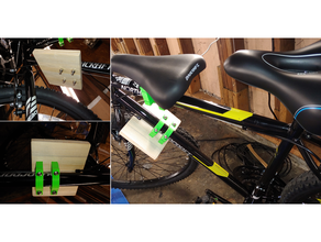 customizable copilot bicycle foot rest - mount bicycle bike carrier child children openscad seat toddler