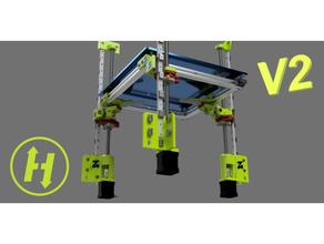 hevort zr v2 - mgn rail assisted leveling axis ball screw wobble management corexy direct drive hevort hypercube linear rail mgn12