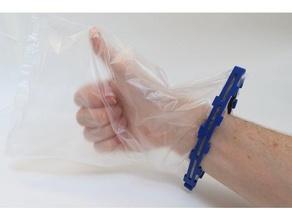 hazmitt guante reutilizable bolso autobús coronavirus covid 19 bricolaje diy acarreo día plegable guante higiene compras entrenar transporte virus