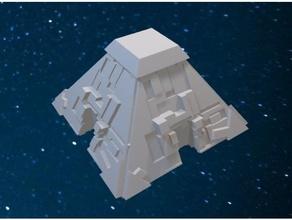 Star Wanderung borg Pyramide Kolonie Schiff borg Raumschiff Raumschiff Star Trek Star Wanderung