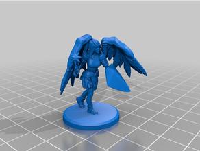 ange femelle guerrier chaîne + bouclier ange jeu plateau dnd miniature femelle figure rare sla jeu guerre guerrier