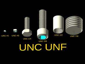 unc unf bolts openscad bolt nut openscad screw thread unc unf