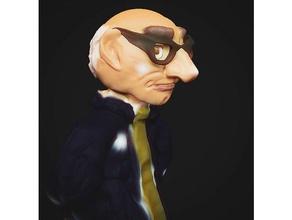 uomo figura caricatura figura vecchio uomo Professore insegnante
