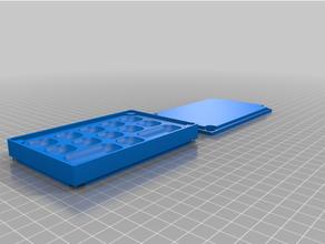 personalizado magnético tornillo bandeja caja Opcional tapa 15x 2 doble personalizado