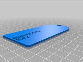 personalizado sencillo llave etiqueta personalizado