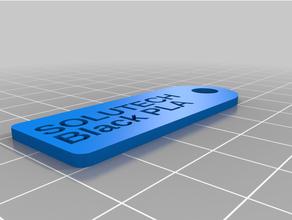filamento llave etiqueta solutech real negro pla personalizado