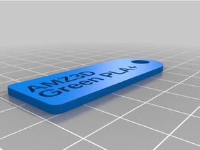 filamento llave etiqueta amz3d verde pla + personalizado