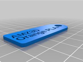 filamento llave etiqueta amz3d naranja pla + 1 personalizado