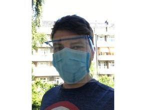 Dexter léger minimal conception visage bouclier minutes covid 19 facecoveringchallenge masque protection vite hygiène minimal openscad protection