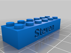 Steven Lego compatibile testo mattoni