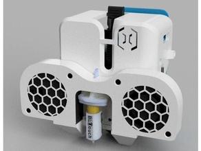 dual 5015 fan duct sidewinder x1 genius +bltouch +bfptouch mounts 5015 5015 fan duct artillery genius bfptouch bltouch bltouch mount cooling cooling duct cooling fan cover fan fan duct fan mount genius sidewinder x1
