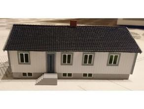 sueco casa escala modelo ferrocarril escala