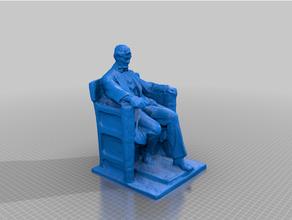 Lincoln monumento bosquejo modelo 1915 Abrahán Lincoln agisoft americano Renacimiento Arte hermosos letras silla Chesterwood civil derechos civil guerra Copiar daniel Chester francés Lincoln monumento masculino