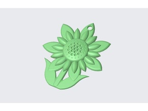 llavero flor vástago flor llavero