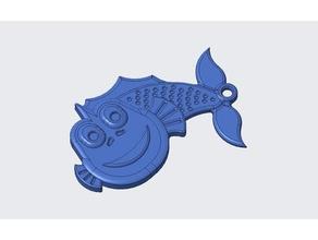 llavero pez pez llavero