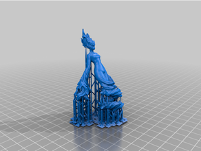 suported & upscaled flare elemental 3dprintable dnd dnd miniature dungeon dungeons dragons elemental miniature miniatures resin printer tabletop tabletop gaming wargaming
