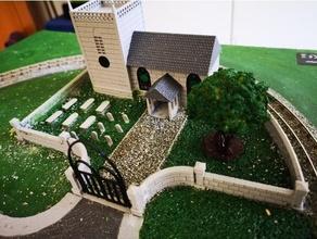 calibre Iglesia Iglesia diarama calibre ferrocarril ferrocarril