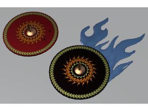 claveteado escudos orden pato mazmorras dragones