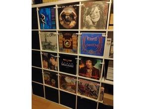 vinyl lp support ikea kallax