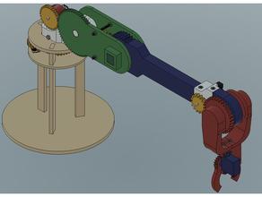 4dof robot arm 24 degrees 3d printed robot arm 4dof autodesk fusion 360 cooking robotics fusion fusion360 fusion360challenge fusion 360 hbridge madewithfusion360 pololu pololu motor pololu motor mount pololu mount robot robotech robotic robotics robots robot arm robot army