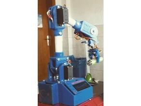robot arm 5 axis servo motors 5axis breakoutboard arduino arduino robot arduino robot arm arm robot robotics robot arm servo servo arm