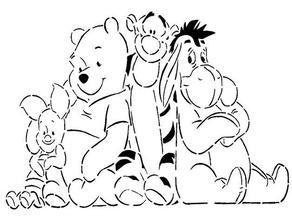 winnie pooh stencil disney donkey eeyore pigglet pooh stencil tiger tigger walt disney winnie-the-pooh winnie pooh xi jinping