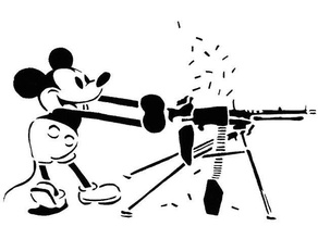 Mickey Souris pochoir 4 2nd amendement disney armes feu machine pistolet Mickey Souris pochoir