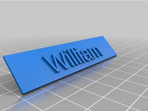 cuwilliam placa identificación fútbol trofeo openscad personalizado