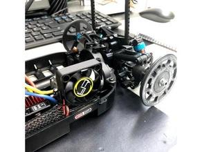 ligero Tamiya tt 01 cubierta ventilador 40mm ventilador conducto ventilador conducto rc coche vehiculo Tamiya