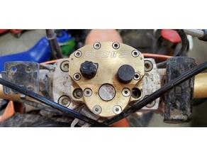Scotts direção amortecedor botão boné bicicleta suja Scotts