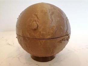Terre heightmap Terre taille carte Mars lune openscad